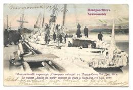 """RUSSIE - NOWOROSSISK - Le Vapeur """"Etoile Du Nord"""" Couvert De Glace à Nord-Est 7.9 - Décembre 1899 - Russia"""