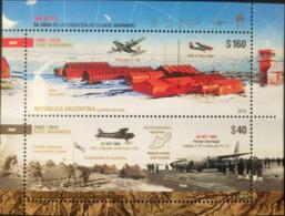 V) 2019 ARGENTINA, ANTARTICA 50 YEARS MARAMBIO BASE STATION, AVIATION , MNH - Argentina