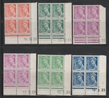 LOT COINS DATES MERCURE TOUS** - 408 De 38 / 410 De 38 & 39 / 411 De 38 / 414 De 39 / 414A De 39 - 1930-1939