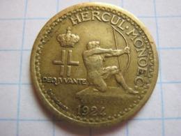 50 Centimes 1924 - Mónaco