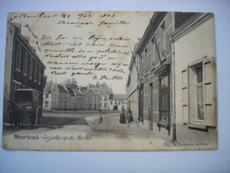 CPA - MEERHOUT ( BALEN MOL TURNHOUT ) - GEZICHT OP DE MARKT ( 1903 - ATTELAGE A CHEVAL ) ( ZIE STAAT ) - Meerhout