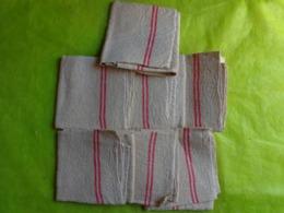 7 Torchons Ancien- Identique- Idem A La Toile De Jute - Vintage Clothes & Linen