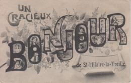 """CPA Fantaisie Saint-Hilaire-la-Treille - """"Un Gracieux Bonjour De St-Hilaire-la-Treille"""" - Frankreich"""