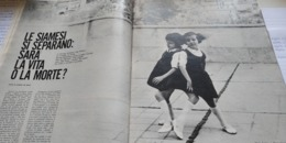 EPOCA 1965 GEMELLINE SIAMESI GRAZZANO BADOGLIO VISCONTI PADRE PIO - Altri