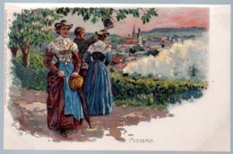 Alte Künstler Postkarte,Bayern,MIESBACH,Trachten,Maler Fritz Berger, Ungelaufen - Miesbach