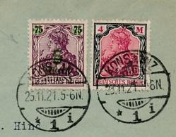 Deutsches Reich - 1921 - 2 Stamps On Cover From Konstanz To St Gallen - Duitsland