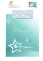 Enveloppe Entier Postale De Service Poste De FRANCE - Timbre Boules De Décoration De Fêtes - Noël