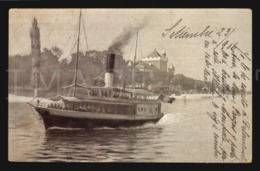 Collection De La Source Cachat Environs D' Evian-les-Bains Tourronde Cpa Postcard Steamer Ship Boat W5-653 - Publicité