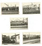 LOT 5 ANCIENNES PHOTOS TRAIN, WAGON, SNCF, S.NC.F, Format Environ 5,9 Cm Sur 8,8 Cm - Eisenbahnen
