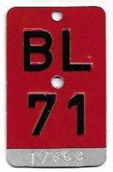 Velonummer Basel-Land BL 71 - Number Plates