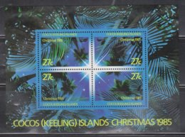 COCOS (KEELING) ISLANDS  Scott # 151 MH - Christmas 1985 Souvenir Sheet - Cocos (Keeling) Islands