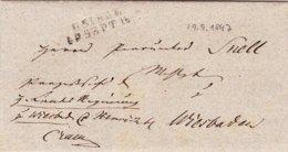 Usingen - Wiesbaden; 2 Briefe Von 1847 Und 1888 - Historical Documents