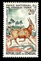 SENEGAL 201** 20f  Vert-bleu, Brun Et Vermillon Parc National Du Niokolo Koba Eland De Deby) - Sénégal (1960-...)