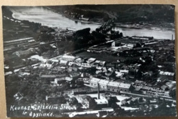 KAUNAS, KOWNO, Circa 1930, Railway Station, Bagnhof, La Gare, Stotis, Aerial View, Bridge, Brucke, Pont - Lituanie