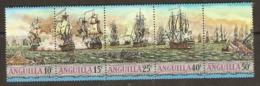 Anguilla  1971   SG  112-6   Sea Battles    Unmounted Mint - Anguilla (1968-...)