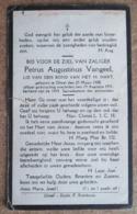 Petrus Augustinus Vangeel - Gheel 25 Maart 1908 - 19 Augustus 1931 / ETAT - Esquela