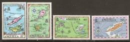 Anguilla  1971   SG  121-4  Maps   Unmounted Mint - Anguilla (1968-...)