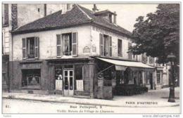 """Carte Postale 75. Paris Restaurant """"Au Rendez-vous Des Pensionnaires """" Rue Pelleport Village Charonne Très Beau Plan - Non Classés"""