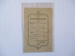 ECOLES CHRETIENNES DE ROUEN PAROISSE St VINCENT PRIX D'HISTOIRE GEOGRAPHIE LE 13 AOUT 1885 LE DIRECTEUR Fre BERTULIEN - Diploma & School Reports