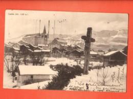 MTX-02  Lens En Hiver Calvaire Et Centre Du Village. Circulé 1937 . - VS Valais