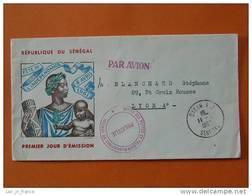 2 Lettres De L'office Des Postes Et Telecommunications Du Senegal - Sénégal (1960-...)