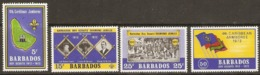 Barbados  1972  SG  444-7  Scout Jamboree    Unmounted Mint - Barbados (1966-...)