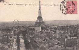 CPA PARIS (75) PANORAMA PRIS DE L'ARC DE TRIOMPHE DE L'ETOILE - Frankrijk