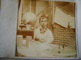Photo Stéreoscopique .  Enfant Devant Un Phonographe , Gramophone . De 1914 . 2 Photos - Stereoscopio