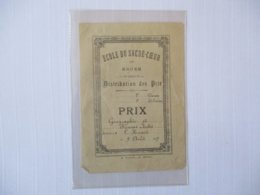 ECOLE DU SACRE-COEUR DE ROUEN DISTRIBUTION DES PRIX LE 9 AOUT 1897 - Diplômes & Bulletins Scolaires