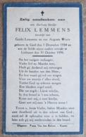 Felix Lemmens, Zoontje Van Guido Lemmens En Van Augusta Wuyts - Geel 1 December 1934 - Lichtaart 31 October 1936 - Esquela