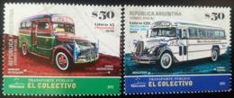 V) 2019 ARGENTINA, OLD BUSES TRANSPORT VINTAGE, EL COLECTIVO, LINE 45-CHEVROLET 1942, LINE 159-MERCEDES BENZ 1961, MNH - Argentina