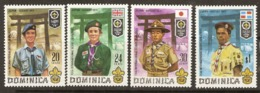 Dominica  1971  SG 337-40   Scout Jamboree   Unmounted Mint - Dominica (1978-...)