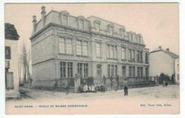 Virton - Saint Mard - Ecole Et Maison Communale - Ed. V Caën - Virton