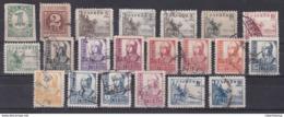 ESPAÑA 1937-40  Cifras, Cid E Isabel Serie Completa Matasellada Edifil Nº 814/831 816A-816B-823A 21 Valores - 1931-Hoy: 2ª República - ... Juan Carlos I