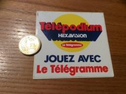 AUTOCOLLANT, Sticker «Télépodium HEXAVISION Le Télégramme» (presse) - Autocollants