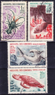 Comores 1966 Faune Marine, Série Complète Yv 35-38, Mi 68-71 Oblitéré O, Je Vends Ma Collection! - Used Stamps