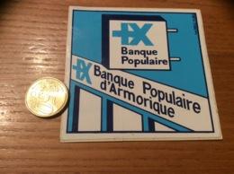 AUTOCOLLANT, Sticker «Banque Populaire D'Armorique» - Autocollants