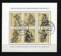 DDR - Kleinbogen Mit Mi-Nr. 2347 - 2352 Kupferstichkabinett Der Staatlichen Museen Berlin Gestempelt BERLIN - DDR