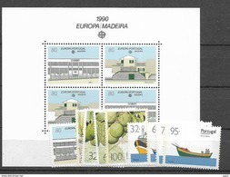 1990 MNH Madeira Year Complete, Postfris - Madère