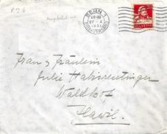 Brief  Bern - Flawil  (Handschrift Cuno Amiet / Stempelfehler)          1931 - Suisse