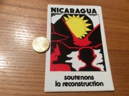 AUTOCOLLANT, Sticker «NICARAGUA Soutenons La Reconstruction» - Autocollants