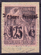 Congo Francais 1892 Yv 7, Mi 7 Oblitéré O, RARE, Je Vends Ma Collection! - Französisch-Kongo (1891-1960)