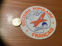 AUTOCOLLANT, Sticker «SPF SECOURS POPULAIRE FRANÇAIS - L'AVION DE LA RÉGION OUEST POUR LE CAMBODGE » - Autocollants