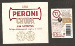ITALIA - Etichetta Birra Beer Bière PERONI CRUDA Non Pastorizzata - Birra