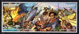 1985, Commémoration De Bataille; YT 1549 - 1551, Triplette, Neuf **,, Lot 51613 - Libye