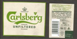 DANIMARCA - Etichetta Birra Beer Bière CARLSBERG Non Filtrata - Birra