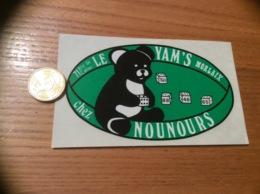 AUTOCOLLANT, Sticker «LE YAM'S Chez NOUNOURS - MORLAIX (29) » (Bar) - Autocollants