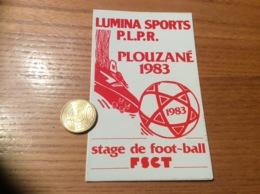 AUTOCOLLANT, Sticker «LUMINA SPORTS PLPR 1983 - Stage De Football FSCT - PLOUZANÉ (29) » - Autocollants