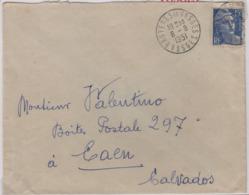 BRUYERES En VOSGES  (Vosges), 8 Août 1951, Sur Gandon 15f - 1921-1960: Modern Period