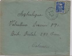 BRUYERES En VOSGES  (Vosges), 16 Janvier 1952, Sur Gandon 15f - 1921-1960: Modern Period
